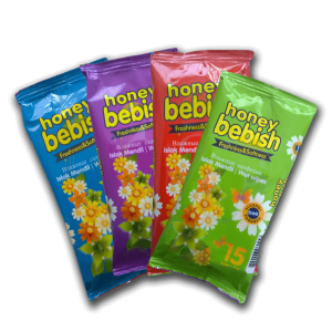 Bebish nedves törlőkendő mini