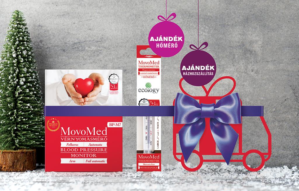 Karácsonyi csomag MovoMed BP-M7 Felkaros Vérnyomásmérő..